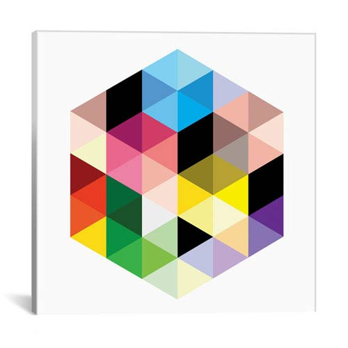 iCanvas Cuboids lll by 5by5collective: 18 x 18-Inch Canvas Print