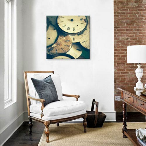iCanvas Time Flies by Olivia Joy StClaire: 26 x 26-Inch Canvas Print