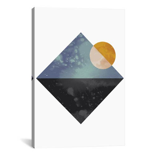 iCanvas Sea And Sun by Flatowl: 18 x 26-Inch Canvas Print