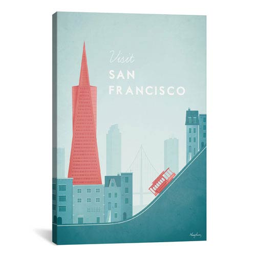 iCanvas San Francisco by Henry Rivers: 18 x 26-Inch Canvas Print