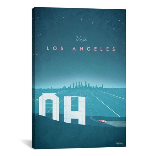 iCanvas Los Angeles by Henry Rivers: 26 x 40-Inch Canvas Print