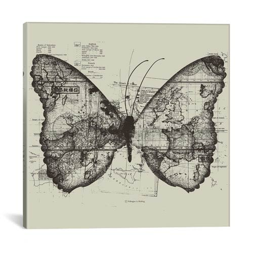iCanvas Butterfly Effect by Tobias Fonseca: 26 x 26-Inch Canvas Print