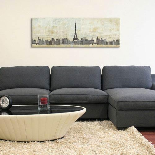 iCanvas Eiffel Skyline by Avery Tillmon: 36 x 12-Inch Canvas Print