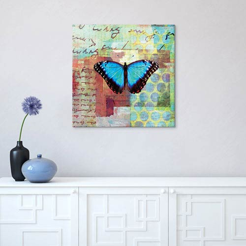 iCanvas Homespun Butterfly III by Dominic Orologio: 37 x 37-Inch Canvas Print
