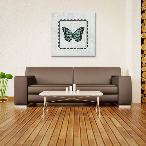 iCanvas Butterfly Stamp by Courtney Prahl: 26 x 26-Inch Canvas Print