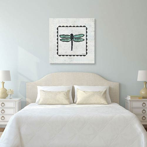 iCanvas Dragonfly Stamp by Courtney Prahl: 26 x 26-Inch Canvas Print