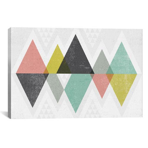 iCanvas Mod Triangles II by Michael Mullan: 40 x 26-Inch Canvas Print
