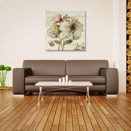 iCanvas Marche de Fleurs II S by Lisa Audit: 37 x 37-Inch Canvas Print