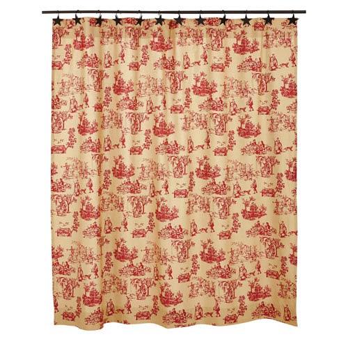 Elaine Rouge 72x72 Shower Curtain