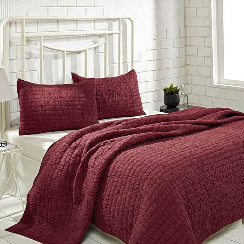 Rochelle Ruby Two-Piece Twin Quilt Set