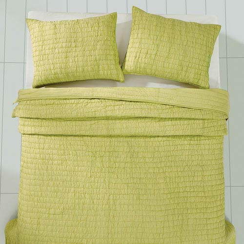 Rochelle Lime Sherbet Two-Piece Twin Quilt Set