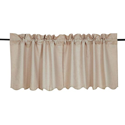 Charlotte Solid Natural Scalloped Tier Set of  Two   Two 4 x 36