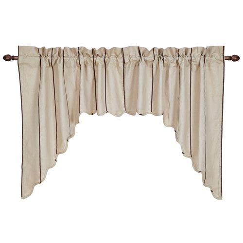 Charlotte Slate Scalloped Swag Set of  Two  36 x 36 x 16