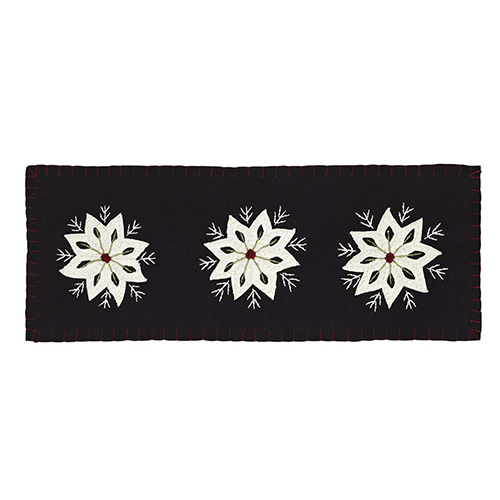 snowflake table decorations.htm seasons crest christmas snowflake black 8 x 24 in table runner  crest christmas snowflake black 8 x 24