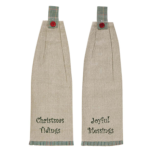 Tidings Tan Kitchen Towel, Set of 2