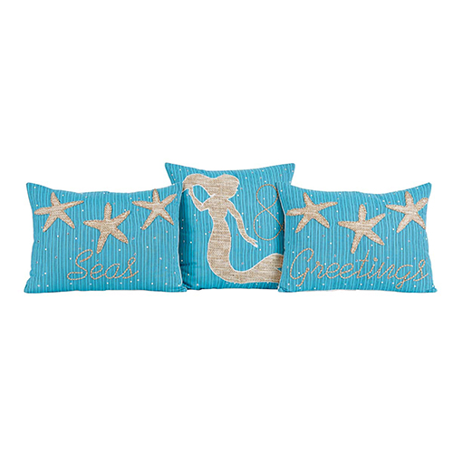 Nerine Seas and Greetings Pillow, Set of 3