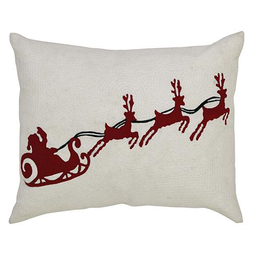 Santa Sleigh 14 x 18 In. Pillow