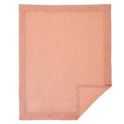 VHC Brands Adelia Apricot Twin Quilt