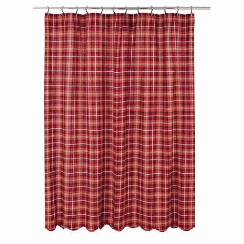 Braxton Le Red 72 X Inch Shower Curtain