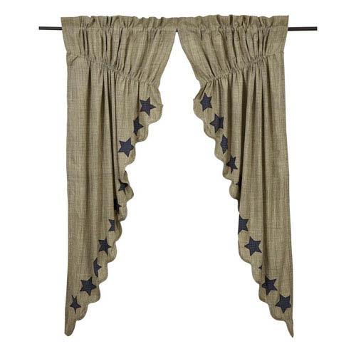 Vincent Khaki 63 x 36 x 18-Inch Prairie Curtain, Set of Two
