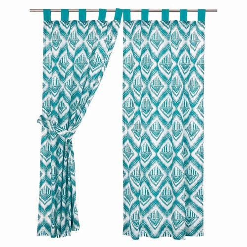 Karina Teal 63 x 36-Inch Short Panel Set of Two
