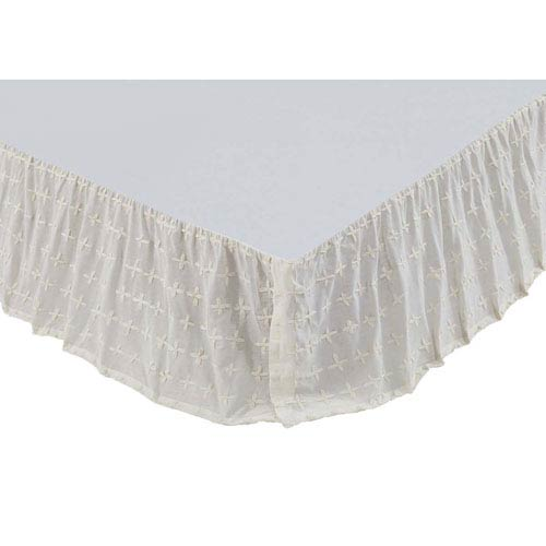 VHC Brands Willow Crème Twin Bed Skirt