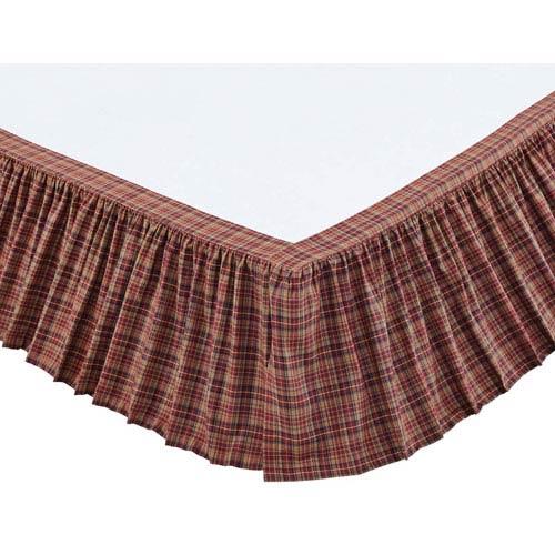 Parker Burgundy Twin Bed Skirt