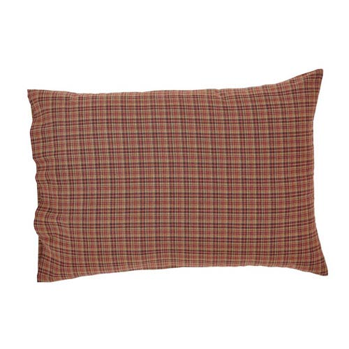 Parker Burgundy 21 x 30-Inch Pillow Case, Set of Two