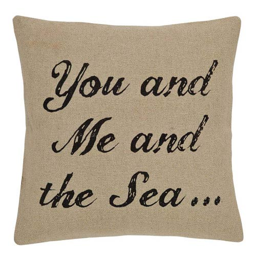You and Me Creme 18 x 18-Inch Accent Pillow with Down Filling