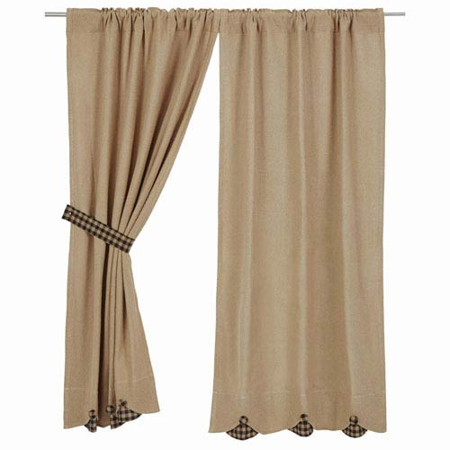 Burlap Natural 63 x 36-Inch Short Panel Set of Two