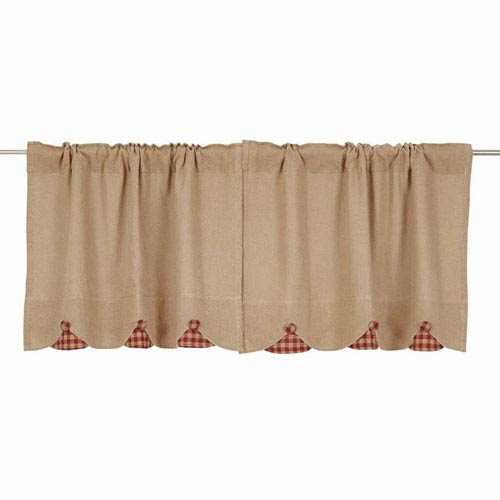 VHC Brands Burlap Natural 24 x 36-Inch Tier, Set of Two
