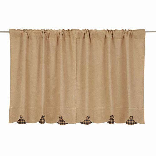 VHC Brands Burlap Natural 36 x 36-Inch Tier, Set of Two