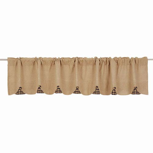 VHC Brands Burlap Natural 16 x 90-Inch Valance