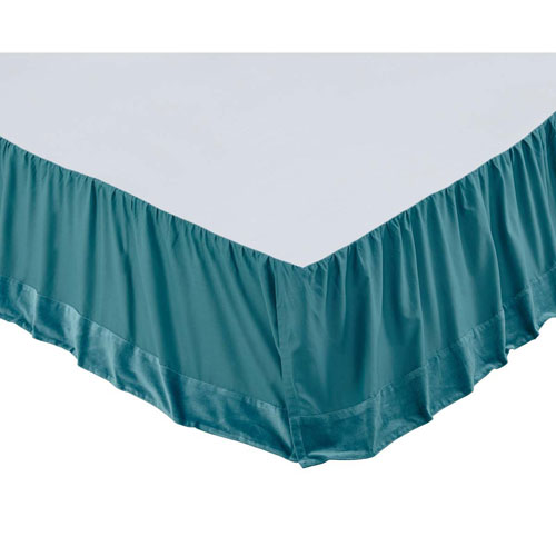 Eleanor Teal King Bed Skirt