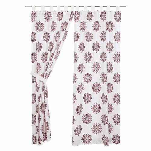 VHC Brands Mariposa Marshmallow 84 x 40-Inch Panel Set