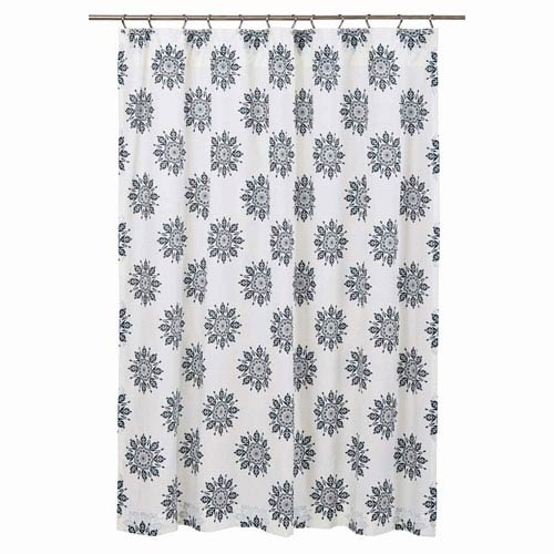 VHC Brands Mariposa Marshmallow 72 X Inch Shower Curtain