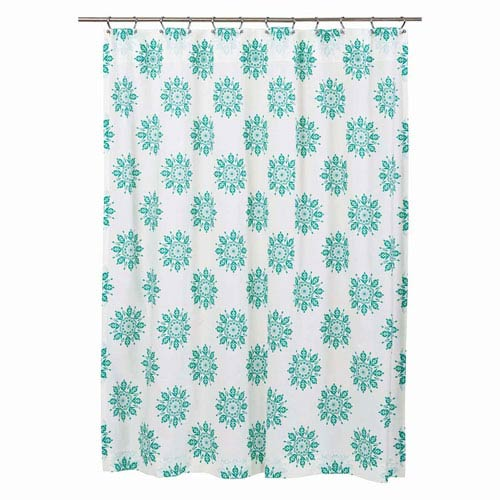 Mariposa Marshmallow 72 x 72-Inch Shower Curtain