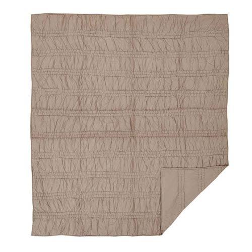 VHC Brands Natasha Warm Taupe Twin Two-Piece Quilt Set