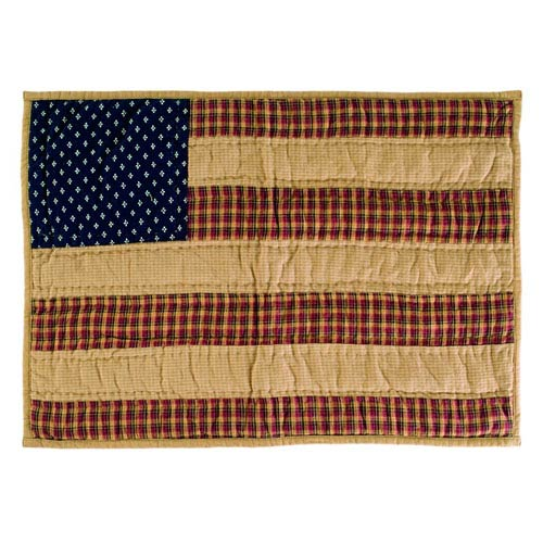 VHC Brands Patriotic Patch Americana Red Placemat, Set of Six