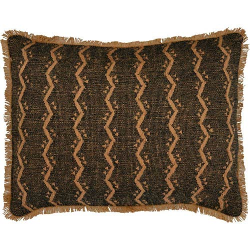 Tatum Jacquard Camel 14 x 18-Inch Accent Pillow with Polyester Filling