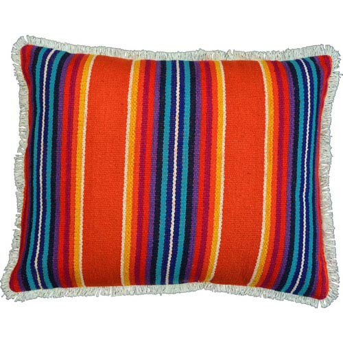 Clarissa Jacquard Tiger Orange 14 x 18-Inch Accent Pillow with Polyester Filling