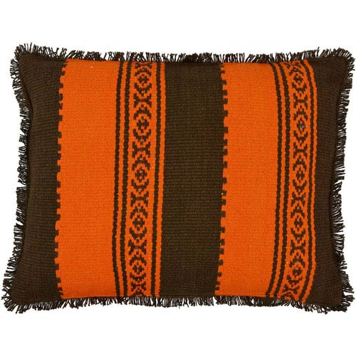 Jessica Jacquard Coffee 14 x 18-Inch Accent Pillow with Polyester Filling