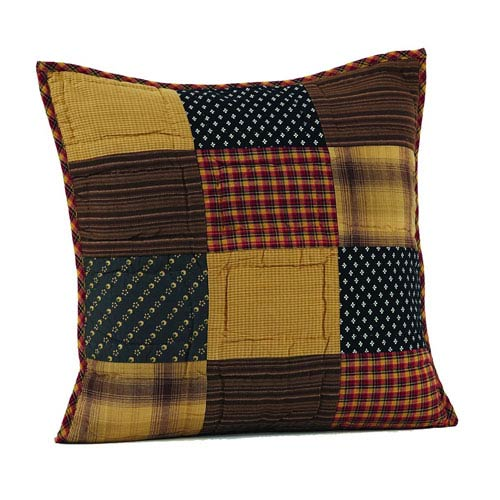 Patriotic Patch Red 16 x 16-Inch Accent Pillow with Polyester Filling