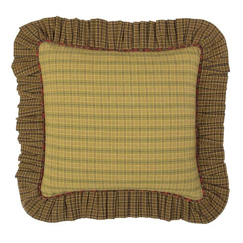 Tea Cabin Green 16 x 16-Inch Accent Pillow with Polyester Filling
