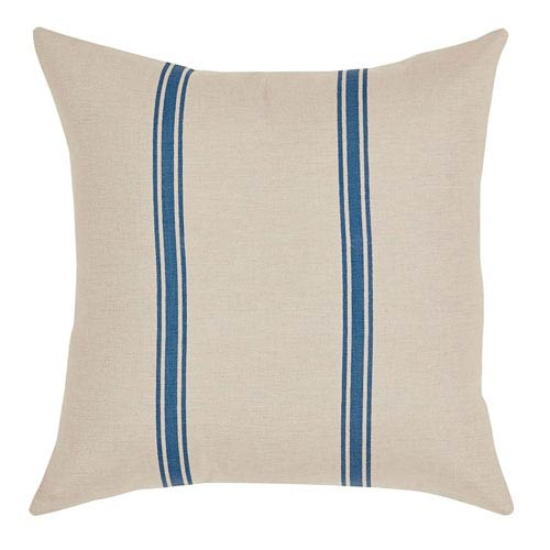 VHC Brands Charlotte Azure Blue 16 x 16-Inch Accent Pillow with Polyester Filling