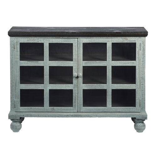 Elizabeth Spearmint Pine Display Cabinet