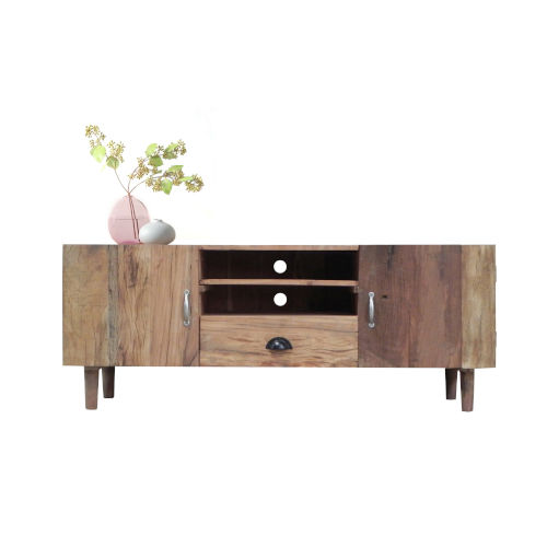 Outbound Tan and Black Console with Two Cabinets and Drawers