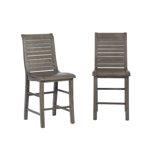 Willow Distressed Dark Gray 24-Inch Counter Chair, Set of 2