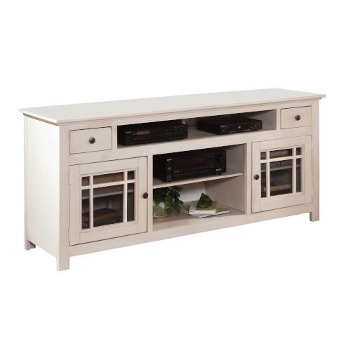 Emerson Hills White 74-Inch Entertainment Console