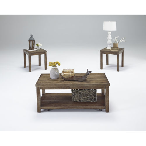 Silverton Driftwood 3-Piece Occasional Table Set